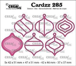 Crealies Cardzz Elements Christmas Baubles