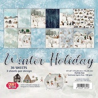 Craft&You Paper Pad 6x6 inch  - Winter Holiday