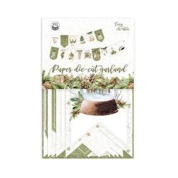 Piatek13 - Paper die cut garland Cosy Winter