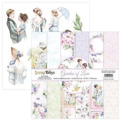 ScrapBoys 6x6 paperpad - Garden of love