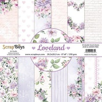 ScrapBoys paperpad 8x8 - Loveland new edition