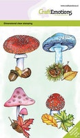 CraftEmotions clearstamps A6 - Mushrooms