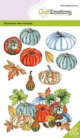 CraftEmotions clearstamps A6 - Pumpkins and gourd