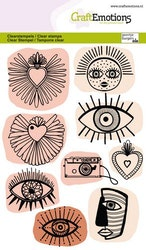 CraftEmotions clearstamps A6 - Trendy icons