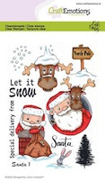 CraftEmotions clearstamps A6 - Santa 1