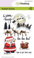 CraftEmotions clearstamps A6 - Santa 2