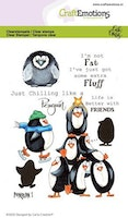 CraftEmotions clearstamps A6 - Penguin 1