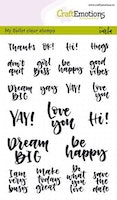 CraftEmotions clearstamps A6 - Bullet Journal - quotes (Eng)