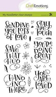 CraftEmotions clearstamps A6 - handletter - Sending you ...