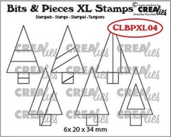 Crealies Clearstamp Bits&Pieces XL no. 04 Trees