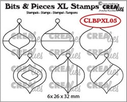 Crealies Clearstamp Bits&Pieces XL no. 05 Christmas Baubles