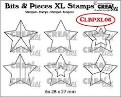 Crealies Clearstamp Bits&Pieces XL no. 06 Stars