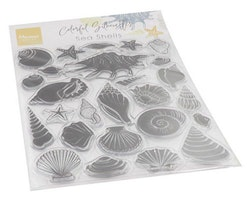 Marianne D Clear Stamps Colorfull Silhouette - Sea Shells