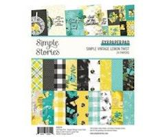 Simple Stories Paper Pad 6x8 - Simple Vintage Lemon Twist