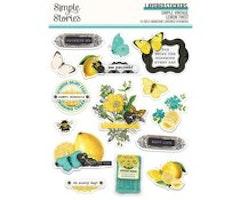 Simple Stories - Simple Vintage Lemon Twist Layered Stickers