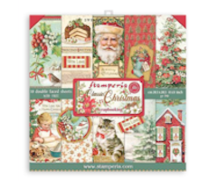 Stamperia 8x8 inch Paper Pack - Classic Christmas