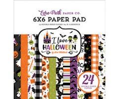 Echo Park 6x6 Paper Pad - I Love Halloween