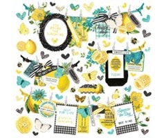 Simple Stories - Simple Vintage Lemon Twist Banner Sticker