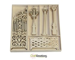 CraftEmotions Wooden ornaments - Decorative fence and ...