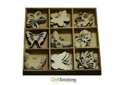 CraftEmotions Wooden ornament box - Botanical ...