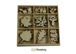 CraftEmotions Wooden ornament box - large and small ...