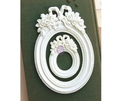 Prima Marketing Memory Hardware Blanc Fleur Oval Resin Frame