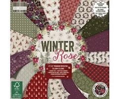 First Edition 6x6 Paper Pad - Winter Rose