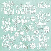 MINTAY CHIPPIES - DECOR - CHRISTMAS WORDS, 22 PCS