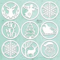 MINTAY CHIPPIES - DECOR - CHRISTMAS CIRCLES, 9 PCS