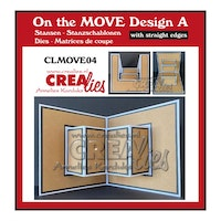 Crealies -  On the MOVE Design A with straight edges
