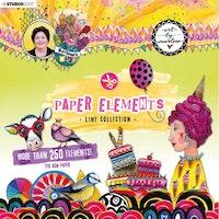 Studio Light - Die Cut Block Paper Elements Mint ...