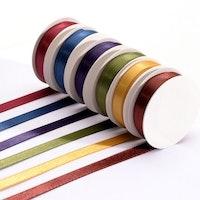 Satin set 6 Colors 6mmx2m Autumn