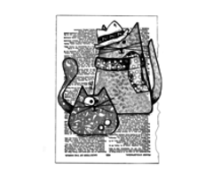 Crafty Individuals - Trilby Cats Unmounted Rubber Stamps