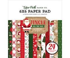 Echo Park 6x6 paper pad -  Jingle All The Way