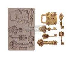 Re-Design with Prima Mechanical Lock & Keys 5x8 Inch Mould