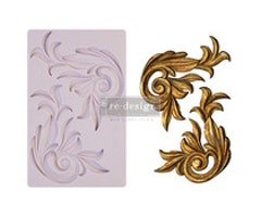 Re-Design with Prima Antique Scrolls 5x8 Inch Mould