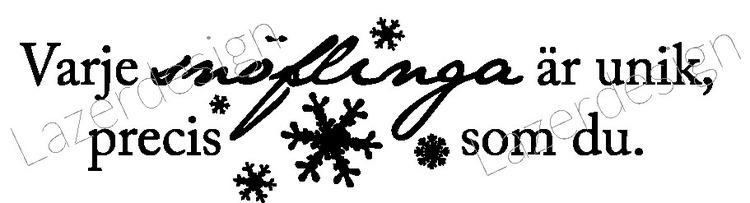 LZ Stämpel - Snöflinga text