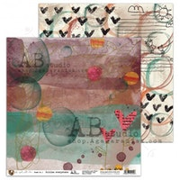 A.B Studio 12x12 Paperset - Just a girl with a bear