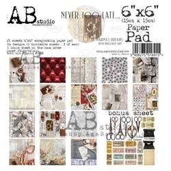 A.B Studio 6x6 paperpad - Never too late