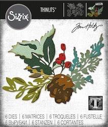 SIZZIX/TIM HOLTZ THINLITS DIE  - Holiday Brushstroke #2