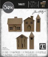 SIZZIX/TIM HOLTZ THINLITS DIE  - Paper Village #2