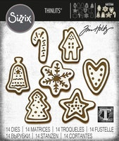 SIZZIX/TIM HOLTZ THINLITS DIE  - Christmas Cookies