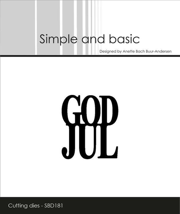 Simple and Basic die  - God Jul