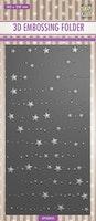 3D Embossingfolder Slimline - Stars & Dots