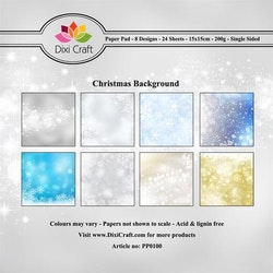 DIXI CRAFT Paperpads 6x6  - Christmas Background
