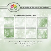 DIXI CRAFT Paperpads 6x6  - Christmas Background - Green