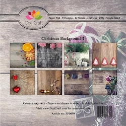 DIXI CRAFT Paperpads 6x6 - Christmas Background 1