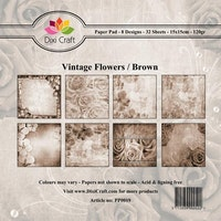 DIXI Craft Paperpads 6x6 - Vintage Flowers