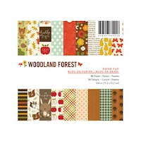 American Crafts Paperpad 6x6  -  Woodland forest