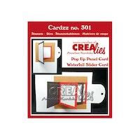 Crealies -  Cardzz Pop up panel card & waterfall slider card